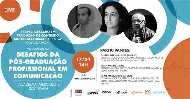 Videoconferência sobre Pós-Graduação Profissional no Brasil